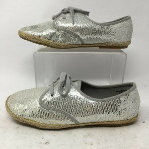 Jelly Beans Youth 4 Womens 6.5 Sequin Lace Up Espa